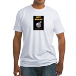 Happy Moon Day Fitted T-Shirt