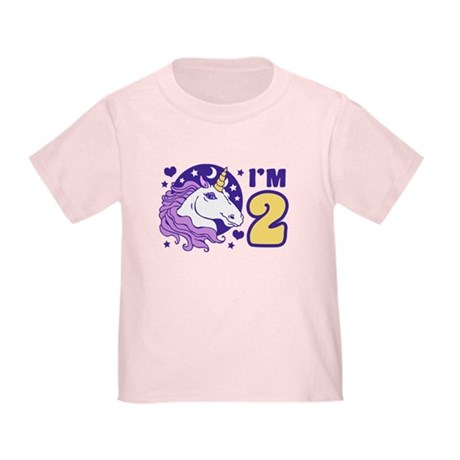 2 Year Old Unicorn Toddler T-Shirt