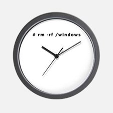 # rm -rf /windows - Wall Clock
