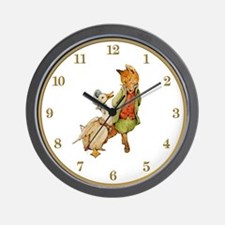 Mr. Whiskers & Jemima Puddleduck Wall Clock