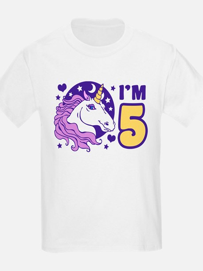 5 Year Old Unicorn T-Shirt