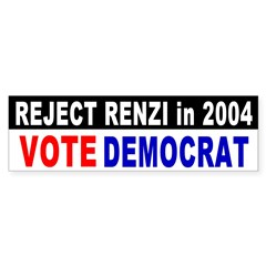 Reject Rick Renzi Bumper Bumper Sticker