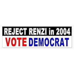 Reject Rick Renzi Bumper Bumper Sticker