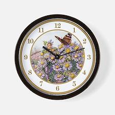Michaelmas Daisy Fairy Wall Clock