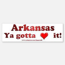 """""""Arkansas"""" Bumper Bumper Bumper Sticker"""