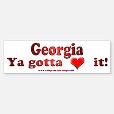 """""""Georgia"""" Bumper Bumper Bumper Sticker"""