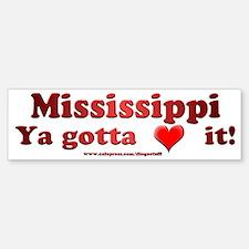 """""""Mississippi"""" Bumper Bumper Bumper Sticker"""