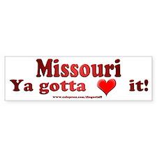 """""""Missouri"""" Bumper Bumper Sticker"""
