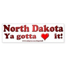 """North Dakota"" Bumper Bumper Sticker"