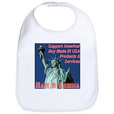 Made In America Statue Of Liberty Bib
