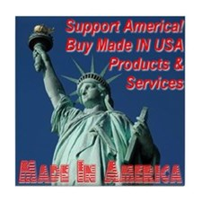 Made In America Statue Of Liberty Tile Coaster