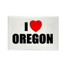 Cute Oregon love Rectangle Magnet (10 pack)