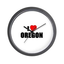 Cute Oregon ducks Wall Clock
