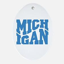 Michigan Ornament (Oval)