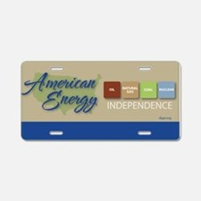 American Energy Independence Aluminum License Plat