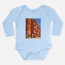 Modern Apartment Block Long Sleeve Infant Bodysuit