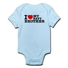 I love My Navy Brother Infant Bodysuit
