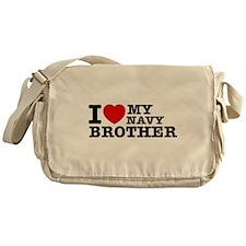 I love My Navy Brother Messenger Bag
