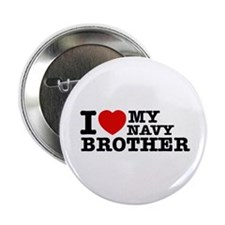 "I love My Navy Brother 2.25"" Button (10 pack)"