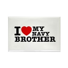 I love My Navy Brother Rectangle Magnet