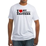 I love My Paramedic Brother Fitted T-Shirt