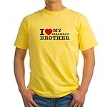I love My Paramedic Brother Yellow T-Shirt