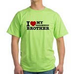 I love My Paramedic Brother Green T-Shirt