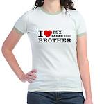 I love My Paramedic Brother Jr. Ringer T-Shirt