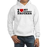 I love My Paramedic Brother Hooded Sweatshirt