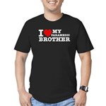 I love My Paramedic Brother Men's Fitted T-Shirt (