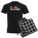 I love My Paramedic Brother Men's Dark Pajamas