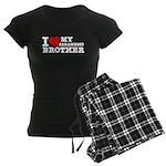 I love My Paramedic Brother Women's Dark Pajamas