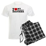 I love My Paramedic Brother Men's Light Pajamas