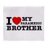 I love My Paramedic Brother Throw Blanket