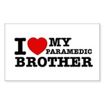 I love My Paramedic Brother Sticker (Rectangle 10