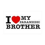 I love My Paramedic Brother 38.5 x 24.5 Wall Peel