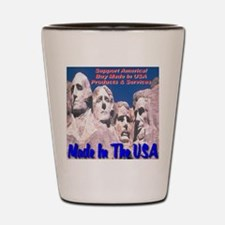Made In The USA Mt. Rushmore Shot Glass