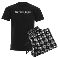 # mv windows /dev/null - Men's Dark Pajamas