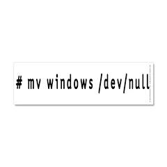 # mv windows /dev/null - Car Magnet 10 x 3