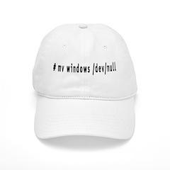 # mv windows /dev/null - Baseball Cap