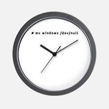 # mv windows /dev/null - Wall Clock