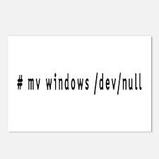 # mv windows /dev/null - Postcards (Package of 8)
