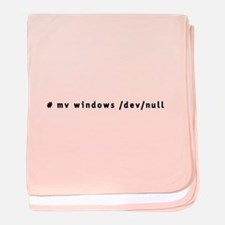 # mv windows /dev/null - baby blanket