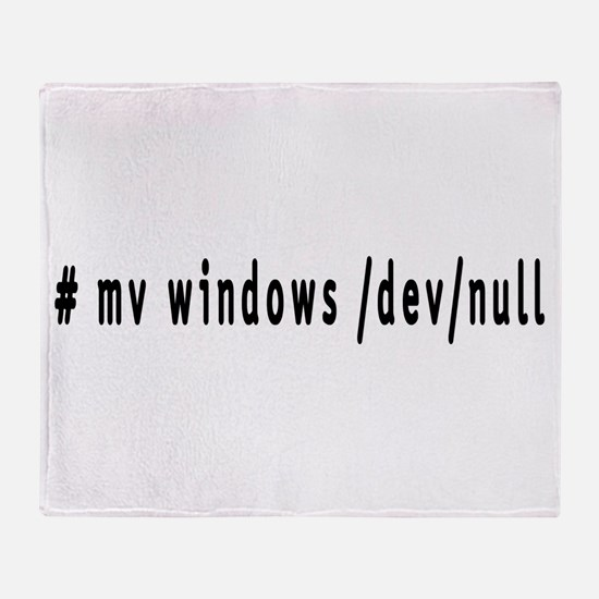 # mv windows /dev/null - Throw Blanket