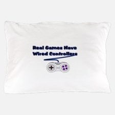 Real Games Have Wired Control Pillow Case