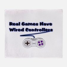 Real Games Have Wired Control Throw Blanket
