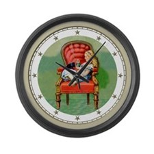 Alice and Dinah Large Wall Clock