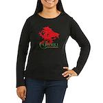 Cymru Draig Women's Long Sleeve Dark T-Shirt