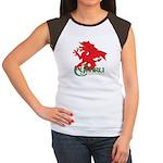 Cymru Draig Women's Cap Sleeve T-Shirt