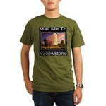 Mail Me To Yellowstone Organic Men's T-Shirt (dark